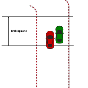 approach side by side braking zone