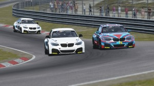 James passes Watkins during the final round at Zandvoort.
