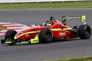 Tristan Cliffe driving the Dallara F302 during the 2012 British F3 Cup season.